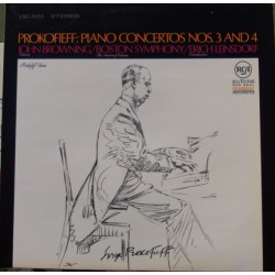 Prokofiev: Piano Concertos nos. 3 & 4. John Browning, Boston SO. Erich Leinsdorf. 1 LP. RCA