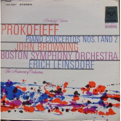 Prokofiev: Piano Concertos nos. 1 & 2. John Browning, Boston SO. Erich Leinsdorf. 1 LP. RCA.