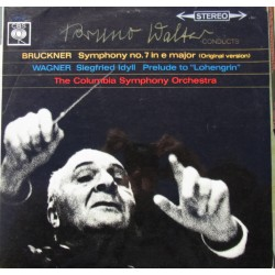 Bruckner: Symphony no. 7. + Wagner: Siegfried Idyll. Bruno Walther. Columbia SO. 2 LP. CBS