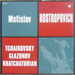 Tchaikovsky: Variations on a Rococo theme & Khataturian: Cello Concerto. Rostropovich, Rozhdestvensky. 1 CD. Russian Archives.