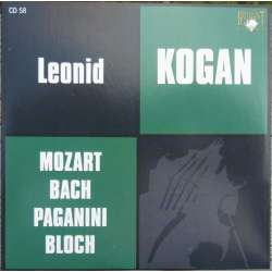 Mozart: Violin Concerto no. 3. & Bach: Violin Concerto, BWV 1041. Leonid Kogan. 1 CD. Russian Archives