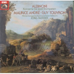 Albinoni: Concerto for two trumpets. Maurice Andre, Guy Touvron, Jörg Faerber. 1 LP. EMI