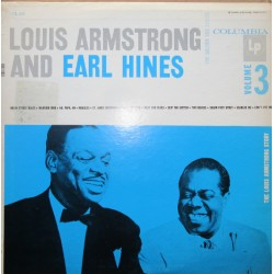 Louis Armstrong and Earl Hines: Volume 3. 1 LP. CBS