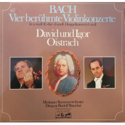 Bach: All four violin Concertos. (all) David og Igor Oistrakh, Rudolf Barshai. 2 LP. Eurodisc