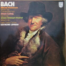 W. F. Bach: Sinfonia, Cembalokoncert. & J. C. F. Bach: Sinfonia. ECO, Raymond Leppard. 1 LP. Philips