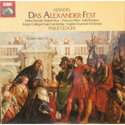 Handel: Das Alexander-Fest. Donath, Tear, Allen. Philip Ledger, ECO, King's College Choir. 2 LP. EMI