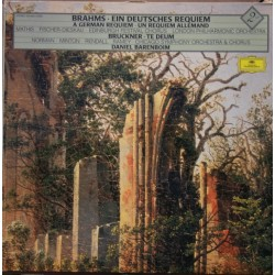 Brahms: A German Requiem. Edith Mathis, Dietrich Fischer-Dieskau. Daniel Barenboim, London Philharmonic. 2 LP. DG
