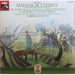 Puccini: Madama Butterfly in Highlights. Jussi Björling, de los Angeles. Gabrielle Santini. 1 LP. EMI