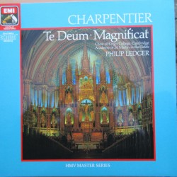 Charpentier: Te Deum + Magnificat. Philip Ledger, King's College Choir, Academy. 1 LP. EMI