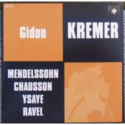Mendelssohn: Concerto for violin and strings. Gidon Kremer, Yuri Bashmet, Moscow Philharmonic. 1 CD. Russian Archives.