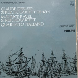 Debussy & Ravel: Strygekvartetter. Quartetto Italiano. 1 LP. Philips