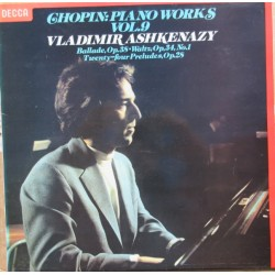 Chopin: Piano Works vol. 9. Vladimir Ashkenazy. 1 LP. Decca. SXL 6877