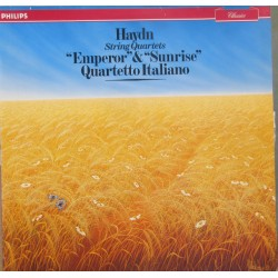 Haydn: String Quartet Op 76/3 Emperor, + Op 76/4. Sunrise. Quartetto Italiano. 1 LP Philips