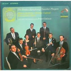 The Boston Symphony Chamber Players. Mozart, Beethoven, Brahms, Copland, Fine, Carter, Piston. 3 LP. RCA