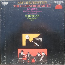 Brahms: 3 Piano Quartets. Artur Rubinstein Guarneri Quartet. 3 LP. RCA
