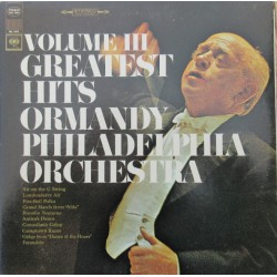 Ormandy Greatets hits. Vol. 3. Philadelphia Orchestra. 1 LP. CBS