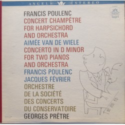 Poulenc: Concert Champetre for harpsichord and Orchestra. Pretre. 1 LP. EMI