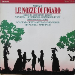 Mozart: Figaros Bryllup in highlights. Van Dam, Hendricks, Raimondi, Popp. Marriner. 1 LP. Philips