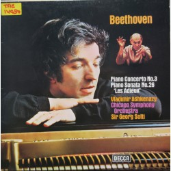 Beethoven: Piano Concerto no. 3. + Sonata no. 26. Vladimir Ashkenazy, Chicago SO. Georg Solti. 1 LP. Decca. SXL 6653