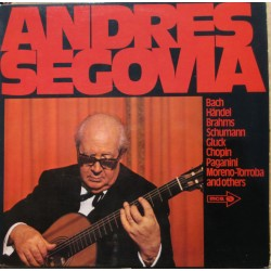 Andrea Segovia plays works by Bach, Handel, Brahms, Gluck, Chopin. 1 LP. MCA