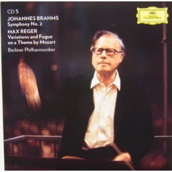 Brahms: Symphony no. 2 + Reger Variations and fugue on a theme by Mozart. Karl Böhm. BPO. 1 CD. DG