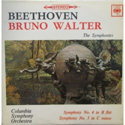 Beethoven: Symfoni nr. 4 og 5. Bruno Walther, Columbia Symphony Orchestra. 1 LP. CBS