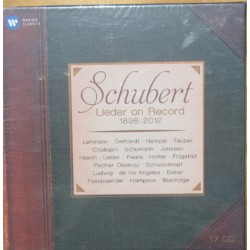 Schubert: Lieder on Record. 1898-2012. 17 CD. Warner