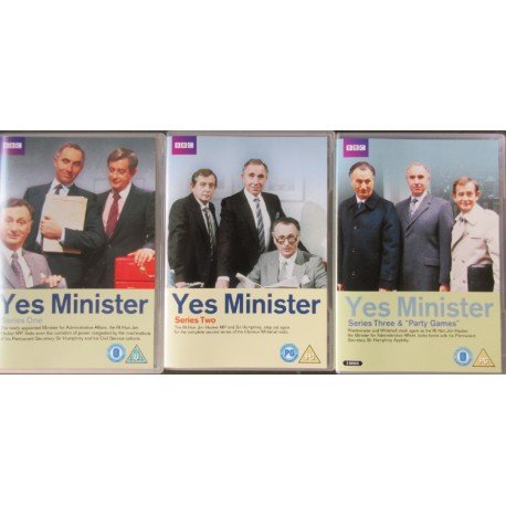 Yes Minister - komplet. Paul Eddington, Nigel Hawthorne og Derek Flows. 3 DVD. BBC