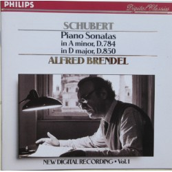 Schubert: Piano sonatas D.784 + D.850. Alfred Brendel. (piano) 1 CD. Philips