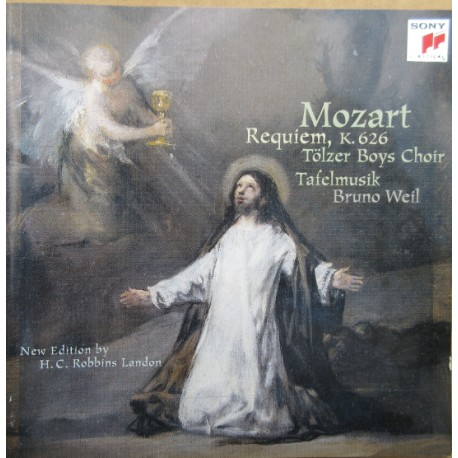 Mozart: Requiem. Bruno Weil, Tolzer boys choir, Tafelmusik. 1 CD. Sony