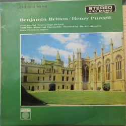 Britten: Te Deum, Jubilate Deo & Purcell: Magnificat, Praise the Lord. The Choir of New College Oxford. 1 LP. Saga