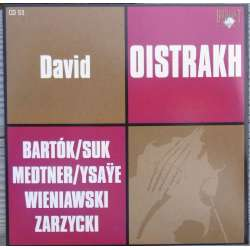 Bartok, Suk, Medtner: Violin sonatas. David Oistrakh & Frida Bauer. 1 CD. Russian Archives