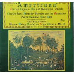 Americana. Music by, Ruggles, Ives, Copland, Mason. 1 LP Turnabout