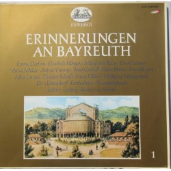 Erinnerungen an Bayreuth. Recorded between 1928 - 1958. 2 LP. Helidor