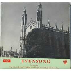 Evensong as sung by The Kings College Choir, Cambridge conducted by Boris Ord. 1 LP. Argo. RG 99