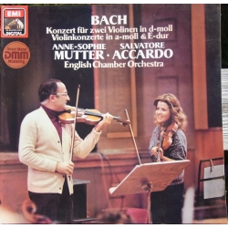 Bach: Violin Concertos. Anne-Sophie Mutter, Salvatore Accardo. English Chamber Orchestra. 1 LP. EMI