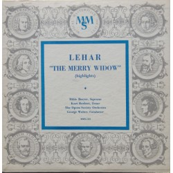 Lehar: The Merry Widow (Highlights). Breyer, Herbert, The Opera society Orchestra, George Walther. 1 EP. MMS