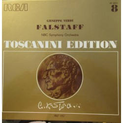 Verdi: Falstaff. Toscanini. Merriman, Scott, Rossi, Carelli, Stich-Randall. NBC SO. 3 LP. RCA. (1950)