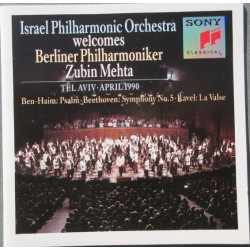 Israel Philharmonic Orchestra welcomes Berliner Philharmoniker. Zubin Mehta. 1 CD. Sony
