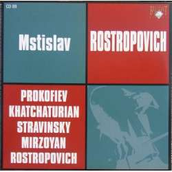 Prokofiev: Cellosonate & Khachaturian: Cellosonate. Rostropovich, Dedyukhin. 1 CD. Russian Archives.