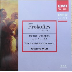 Prokofiev: Romeo and Juliet suites 1 & 2. Richardo Muti, Philadelpha Orchestra. 1 CD. EMI