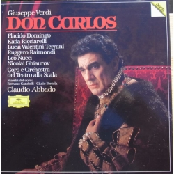 Verdi: Don Carlos in french. Domingo, Ricciarelli, Raimondi, Nucci, Ghiaurov, La Scala, Claudio Abbado. 3 CD. DG