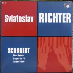 Schubert: Piano Sonatas D 566 & D 894. Sviatoslav Richter. 1 CD. Russian Archives