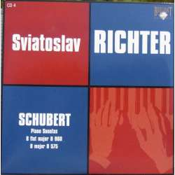 Schubert: Piano Sonatas D 960 & D 575. Sviatoslav Ricther. 1 CD. Russian Archives