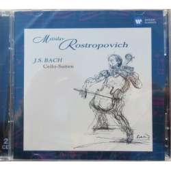 Bach: Cello suite nr. 1-6. Mstislav Rostropovich. 2 CD. EMI