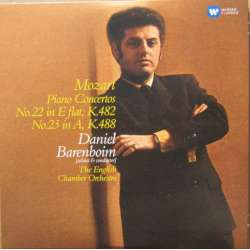 Mozart: Piano Concertos nos. 22 and 23. Daniel Barenboim, English Chamber Orchestra. 1 CD. Warner.