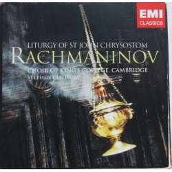 Rachmaninov: Liturgy of st. John Chrysostom. Stephen Cleobury, KIngs College Choir. 1 CD. EMI