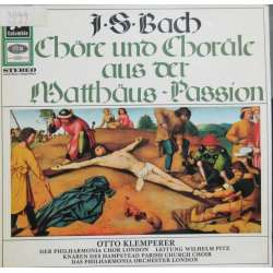 Bach: Choruses and Chorals from Mattheus Passion. Otto Klemperer, Philharmonia Chorus and Orchestra. 1 LP. EMI