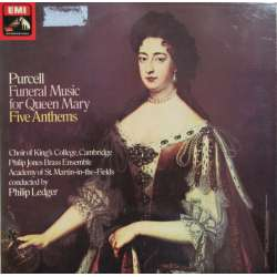 Purcell: Funeral Music for Queen Mary. King's College Choir, Academy, Philip Ledger. 1 LP. EMI. ASD 3316