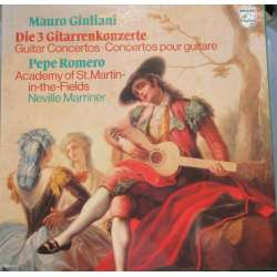 Giuliani: The three Guitar Concertos. Pepe Romero, Neville Marriner, Academy of St. Martin in the Fields. 2 LP. Philips